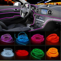 2M Car Auto Interior Decorative LED Wire Atmosphere Cold Light Blue Strip Lamp