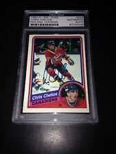Chris Chelios Signed 1984-85 O-Pee-Chee OPC Rookie Card PSA Slabbed #83704299