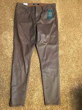 New RALPH LAUREN Women's Brown Premier Skinny Ankle Pants Jeans Size 12 NWT
