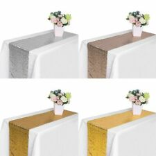 "71"" 108"" 118 Wedding Party Sparkle Glitz Sequin Table Runner Banquet Decorations"