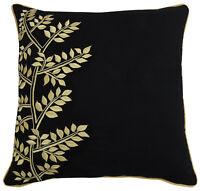 housse de coussin taie d'oreiller throw  noir décor taie d'oreiller en coton