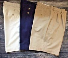 Lot of 3 Casual Ashworth Mens Front Pleats Leisure Golf Shorts SZ 33 Great Cond.