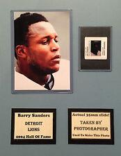 Barry Sanders Lions Photo Negative Matte 11x14 Photographers Negative Included B