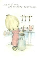 Vintage Old Fashioned Get Well Soon Churning Butter Betsey Clark Hallmark Card