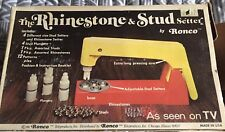 Used RONCO Vintage 1974 The Rhinestone & Stud Setter by Ronco with extras
