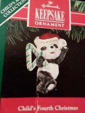 Collector Hallmark Childs Fourth Christmas 1991 Christmas Ornament