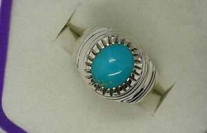 925 Sterling Silver Certified  Feroza Mens Ring Engagement Ring Gift Free ship
