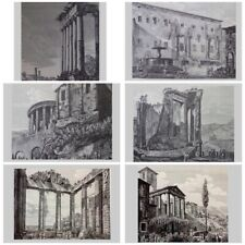 Piranesi Style Vintage Prints by Rossini - Set Of 6 - Vastly Reduced Price!