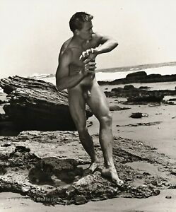 1951 BRUCE BELLAS Of L.A. Vintage Male Nude Ben Montgomery Photo Engraving 12X16