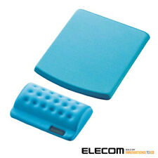 ELECOM BLUE mouse pad COMFY & Wrist Rest Blue MP-114BU JAPAN