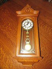 """Strasbourg Manor Solid Oak Pendulum Clock Retro Classic """"Vintage"""" Quartz BEAUTY!"""