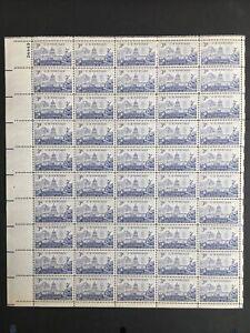 1951 sheet, Colorado Statehood Sc #1001