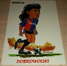 CARD GOLD 1993 GENOA DOBROWOLSKI CARICATURA CALCIO FOOTBALL SOCCER ALBUM