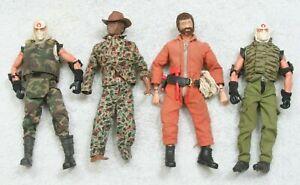 "Lot 4 Vintage 12"" GI Joe Action Figures 2 1964 Black Original Weapons Cobra 2002"