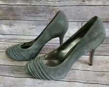 e1dc600d534f Via Spiga Gray Suede Leather Round Toe Classic Pumps Women s Size 9.5 M  Shoes
