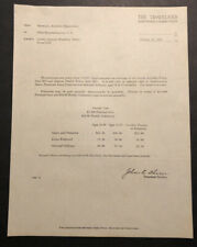 Antique 1925 The Travelers Insurance Leader General Disability Policy Letter