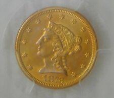 """1873 GOLD $2.5 Liberty HEAD QUARTER EAGLE """"CLOSED 3"""", PCGS AU58, Beautiful Coin!"""