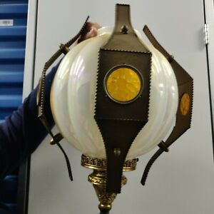 Lamp Chandelier Pendant Brass Gilbert Turkish Moroccan Vintage Ceiling Hanging