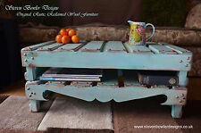 Handcrafted to Order Classic Duck Egg Blue & Copper Rustic Coffee Table