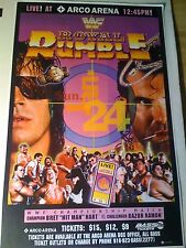 1993 WWF ROYAL RUMBLE Pay Per View EVENT POSTER BRET HART RAZOR RAMON Mint Cond