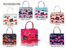 New Poppy Flower Butterfly Designer Patent Tote Bags Women's Shoulder Handbag