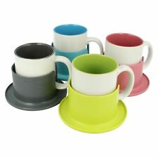 ETHOS MUG & COASTER TEA COFFEE CUP 4 COLOUR IDEAL FOR HOME OFFICE CARAVAN GIFT