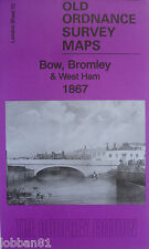OLD ORDNANCE SURVEY DETAILED MAP BOW BROMLEY WEST HAM LONDON 1867 SHEET 53 NEW