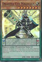 YU-GI-OH CARD: DHARMA-EYE MAGICIAN - SUPER RARE - PEVO-EN018 - 1ST EDITION