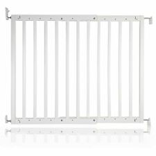 Safetots Chunky White Wooden Stair Gate 63.5   105.5cm Wooden Baby Gate