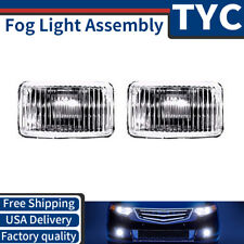TYC 2X Left + Right Fog Light Lamp Assembly Kit Set For 1988-97 Chevrolet C1500