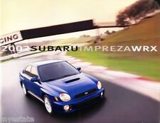 2002 02 Subaru Impreza WRX original  brochure MINT