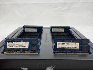 LOT 8 ELPIDA EBJ81UG8EFU0 8GB DDR3 PC3L-12800 1600 LV NON ECC SODIMM MEMORY RAM