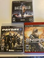 playstation 3 ps3 lot Of Shooters, Sniper: Ghost Warrior, Payday 2, Battlefield3