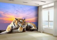 Tiger Looking Something on the Rock Wallpaper Mural Photo 23869521 budget paper