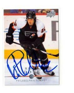 "RILEY COTE autographed SIGNED '08/09 PHILADELPHIA FLYERS ""Upper Deck"" card #55"