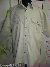 """CABELAS"" Mens Khaki Buttondown Shirt, Large,100% Cotton, Outdoor Shirt"