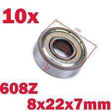 10pcs 608Z Miniature Bearing Metal Shields Ball Bearing 8mm x 22mm x 7mm