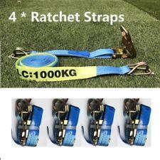 Ratchet Tie Down Straps (4 Packs) 35mm x 6m /LC:1000kg/Heavy Duty AU STOCK