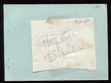 Phyllis Diller Signed Album Page Inscribed Autographed in 1979