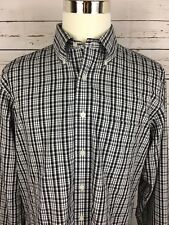 BROOKS BROTHERS Men's LS 100% Cotton Black&White Plaid Shirt Sz (L)