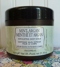 HUGE PHYTORELAX LABS MINT & ARGAN EXFOLIATING BODY SCRUB SEALED 21.16 OZ