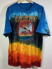 VTG Led Zeppelin Icarus 1975 US Tour Tie Dye T-Shirt XXL