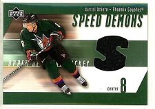 DANIEL BRIERE 2002 UD SPEED DEMONS GAME USED JERSEY