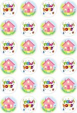 24 New Home Cupcake Fairy Cake Toppers Edible Rice Wafer Paper Decorations
