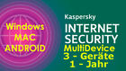 Kaspersky Internet Security 3 PC/Geräte 1 Jahr Multi-Device Win/Mac/Android