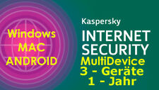 Kaspersky Internet Security MultiDevice WIN/MAC/ANDROID 1 Jahr - 3 Geräte