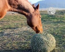 BIG SALE 18ply Huge Opening Round Horse Hay Net Bag Round Flat Slow Feed