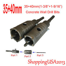 35+40mm Concrete Drill Bits Hole Saw Cutter Tool Set Brick Cement Stone Wall@@