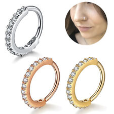 Nose Ring Ear Helix Ring Nose Hoop Nose Cuff Ear Ring Silver Gold Crystal