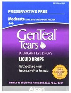 GenTeal Tears Liquid Drops, Single-Use Vials 36ct 300658063014